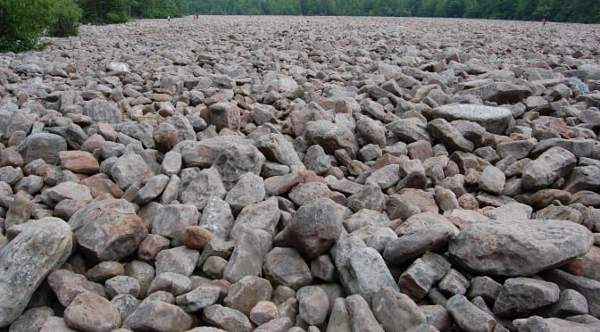 large field of rocks