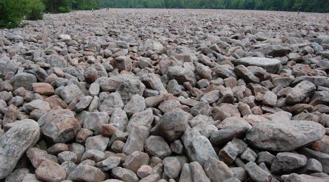 large field of rocks