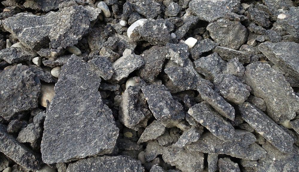 broken asphalt