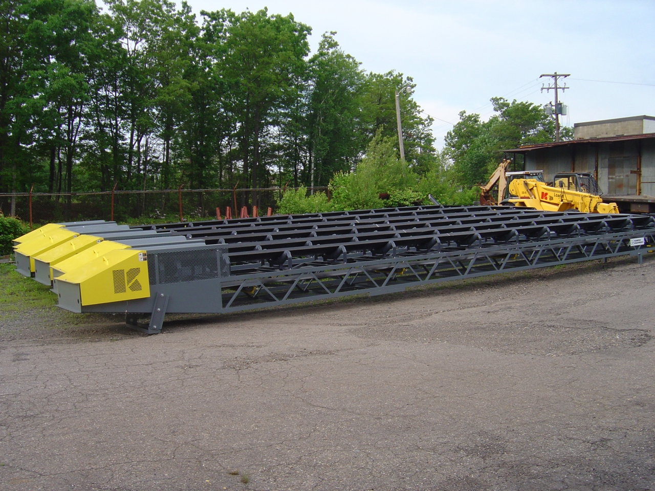 Material Handling Conveyor Belt System Sections Ready for Shipment